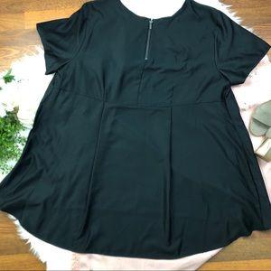 Tops - 4x Apt 9 black back 1/4 zip blouse
